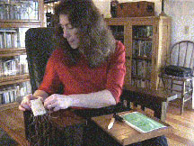 Rosemary Sewing a Book